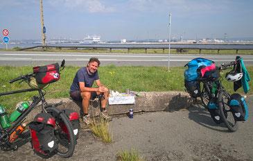 Verschnaufpause im Hafengelände von Le Havre.