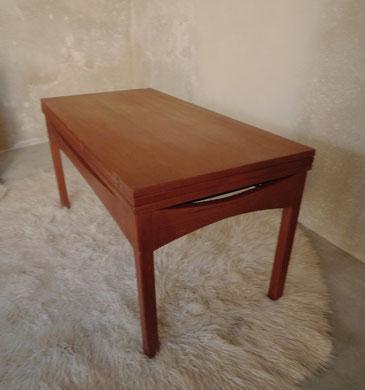 JOLI table basse relevable teck années 60 vintage scandinave