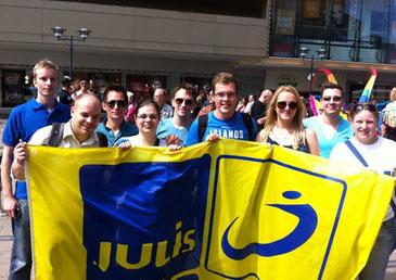 Liberale engagieren sich beim CSD Ruhr in Essen.