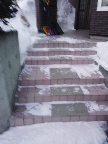 最高・究極の雪氷階段玄関滑り止めマット