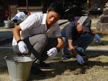 清掃活動に参加@蹉跎神社(10/8)