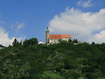 Pfarr- und Wallfahrtskirche Mariä Himmelfahrt auf dem Bogenberg bei Straubing, Foto: