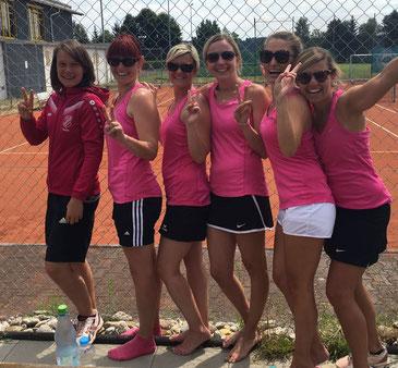 Großer Jubel der Damen 2 nach dem Erfolg beim FC Horgau