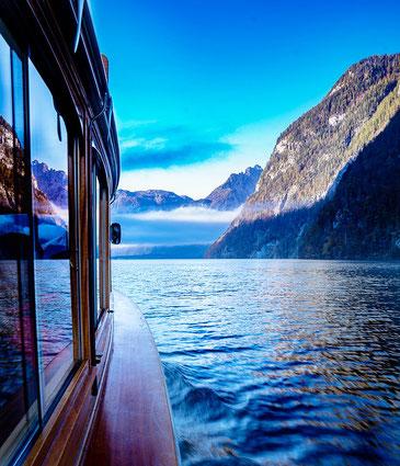 Bootsfahrt auf dem Königssee in Berchtesgaden