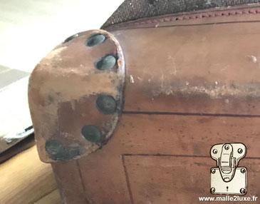 Louis Vuitton steamer bag en coin cuir riveté comme la malle