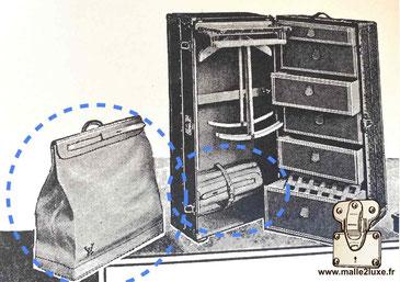 Dimensions standard sac steamer bag Louis Vuitton vintage 35 45 55 65