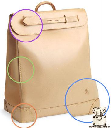 Steamer bag expertise. secret Louis Vuitton version cuir