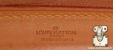 steamer bag Louis Vuitton marquage cuir