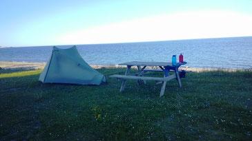 Zelten direkt am Strand