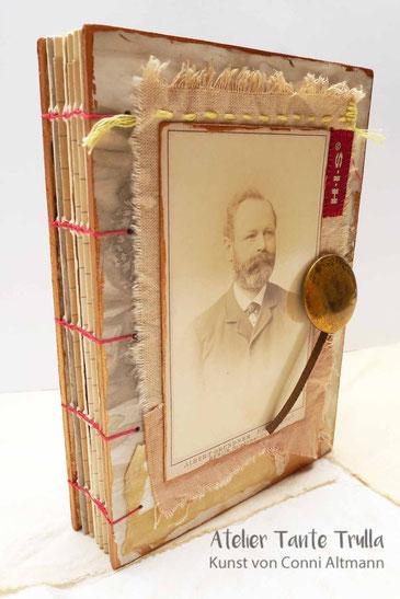 künstlerisches Buch mit Cabinet Card