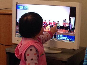 たまたま見たテレビに私を見つけた二女^_^;