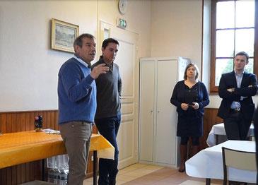 A gauche : Le maire Bruno Lahouati est vice-président en charge du tourisme et de l'oenotourisme au sein de la Communauté d'agglo de Château-Thierry.