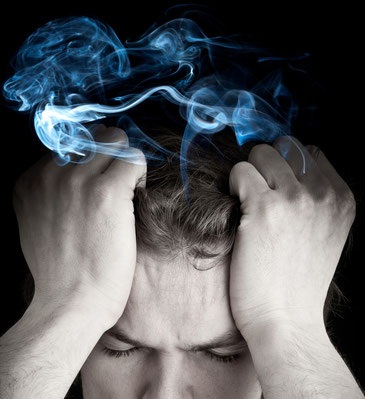Bild Meditation Denkender Kopf