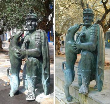 La statue du légionnaire réalisée par Jacques Lasserre - Rue Saint Vincent, place de la Cathédrale. (en 2016 et avant 2016)