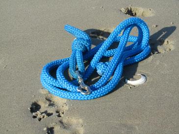 Laisse et longe Woodenpark sur le sable