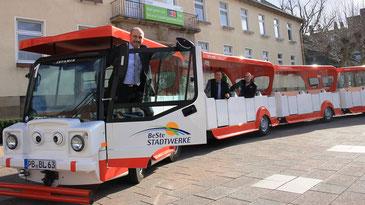Beispiel: BALI-Bahn in Bad Lippspringe - Foto aus der Homepage der Landesgartenschau 2017