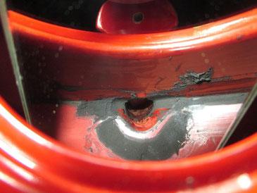 銚子内側 錆漆