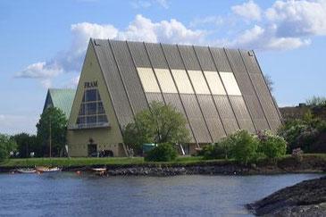 Frammuseum vom Boot aus gesehen