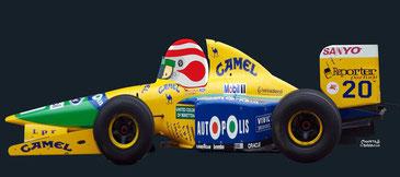 Nelson Piquet Souto Maior by Muneta & Cerracín - Piquet Benetton B191