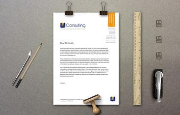 Gestaltung von Briefbögen