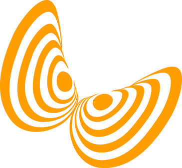 Wie der Flügel eines Schmetterlings.