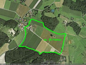 Karte des geplanten Gewerbegebiets / Industriegebiet