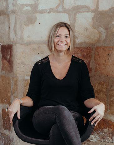 Elodie, responsable coiffeuse visagiste au salon de coiffure Octobre Caen