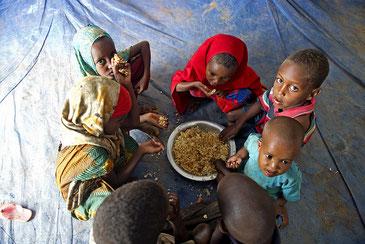 干ばつによる飢餓でエチオピアに逃れたソマリア難民の子どもたち United Nations Photo CC BY-NC-ND 2.0
