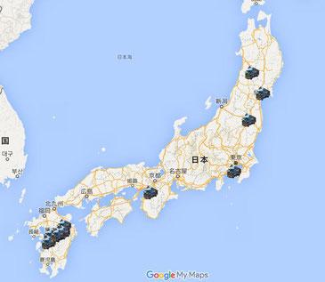 ソーラーパワートラックの道程をGoogleマップでご覧いただけます。