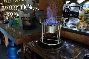 タイの農場で出会ったバイオガス調理器