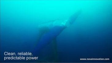 シェトランド諸島で実験中の潮力発電(ノバイノベーションのYoutube映像より)