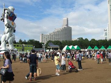 「ひだまり~な」は潮風公園でのガンダムの展示に電力を提供!