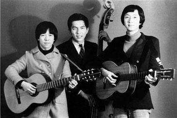 左から、はしだのりひこ、北山修、加藤和彦