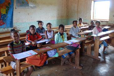 マダガスカルの子どもたち。どこか懐かしいアジア系の顔立ちだ。