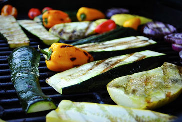 Vegetarische barbecue, bbq, groentenbarbecue, veggie-bbq