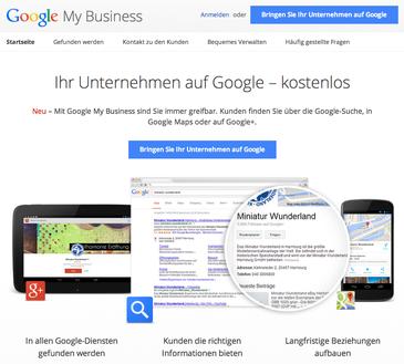 Suchmaschinenoptimierung: Google My Business Eintrag und Optimierung- kostenloser Datenbankeintrag.