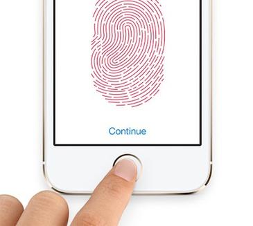 iPhone5S 指紋認証画面