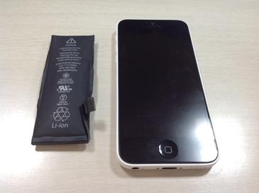 iPhone5cの膨張バッテリー