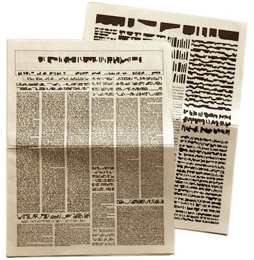 Mirtha Dermisache: Dario n° 1, 1975