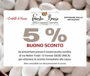Buono sconto Brusa Confetti e bomboniere Varese