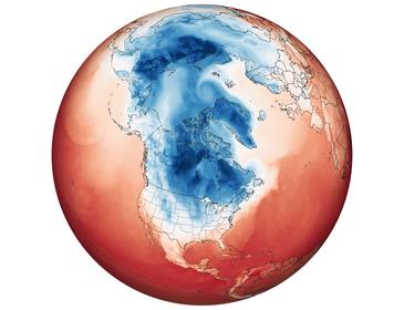 極渦の乱れを表すNASAの画像