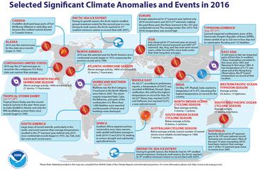 世界で起きた異常気象や極端現象の一覧 NOAA提供