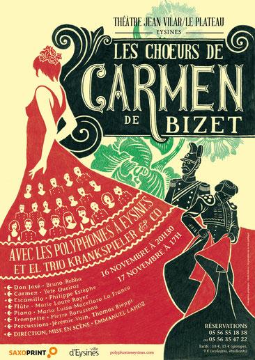 affiche de Carmen de Bizet, réalisée par Cécile Bichon