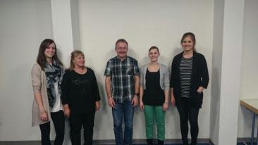 Unser neuer Vorstand: Cécile Kaufmann-Grieder, Chrigi Schwander, Thomas Marti (Präsident), Sabrina Schlumpf, Sinah Lückner (von links nach rechts)