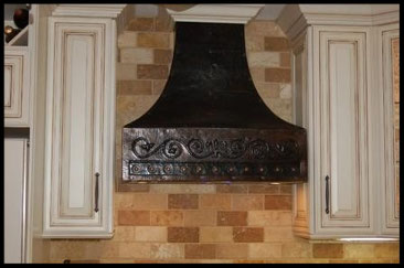 Fleur de Lis Design & Studs COPPER HOOD INSTALLED #3