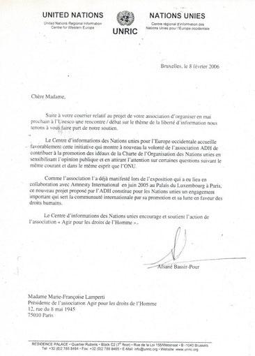 En remplacement de l'Unesco, cet événement à eu lieu au Sénat de la République Française.