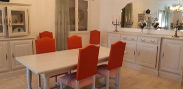 salle à manger couleur lin glacis blanc