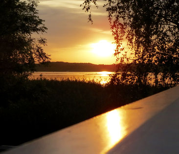 Zierker See, Sonnenuntergang, Neustrelitz, MV