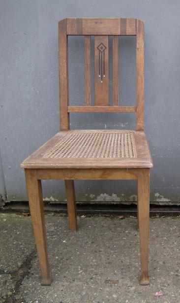 Stuhl Leder Antik Kuechenstuhl unrestauriert
