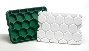 Couvercle en plastique de l'abri compteur SOGEMAP avec renforts nid d'abeille